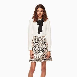 kate spade Tops - NWT Kate Spade lace collar silk shirt
